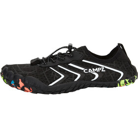 CAMPZ Aqua Shoes with Puller, nero/bianco